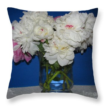 Throw Pillow featuring the photograph Peonies Bouquet 5 by Margaret Newcomb