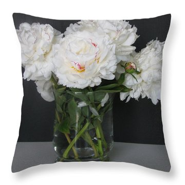 Throw Pillow featuring the photograph Peonies Bouquet 6 by Margaret Newcomb