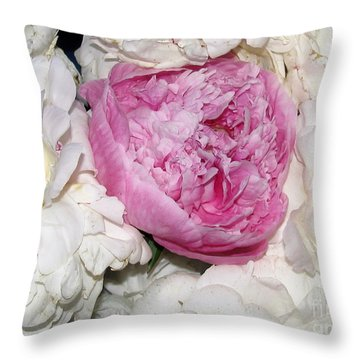 Throw Pillow featuring the photograph Peony Bouquet 13 by Margaret Newcomb