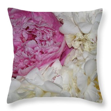 Throw Pillow featuring the photograph Peony Bouquet 14 by Margaret Newcomb