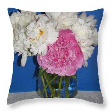 Throw Pillow featuring the photograph Peony Bouquet 7 by Margaret Newcomb