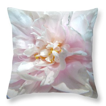 Peony Throw Pillow by Geraldine Alexander