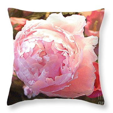 Throw Pillow featuring the photograph Peony No. 2 by Merton Allen