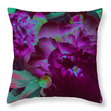 Peony Passion Throw Pillow by First Star Art