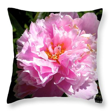 Throw Pillow featuring the photograph Peony by Sher Nasser