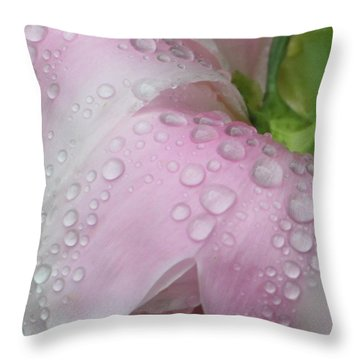 Peony Tears Throw Pillow by Barbara S Nickerson