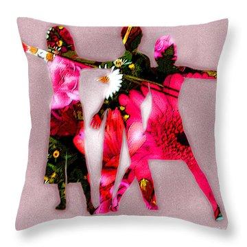 People Fashion Throw Pillow