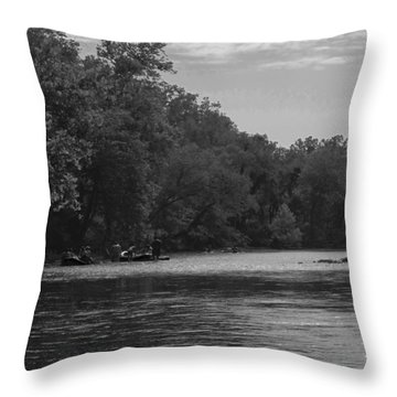 People Floating Throw Pillow