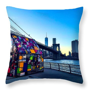 People In Glass Houses... Throw Pillow