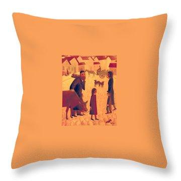 People Of Derbent Throw Pillow