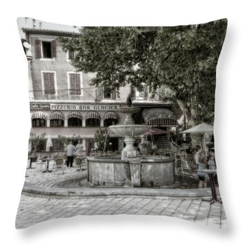 People On The Square Throw Pillow
