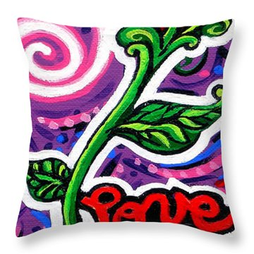 Pepe Le Pew Loves Le Chat Throw Pillow by Genevieve Esson