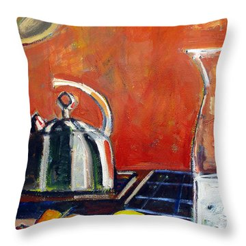 Pepper Lime Throw Pillow by Charlie Spear