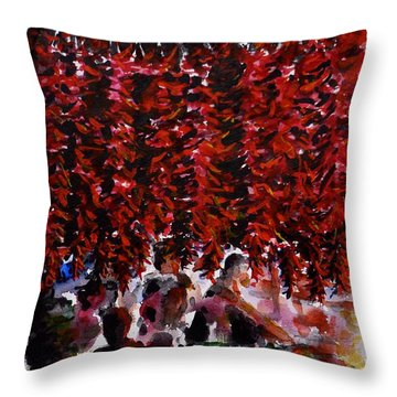 Pepper Throw Pillow by Zaira Dzhaubaeva