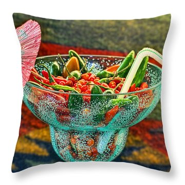 Throw Pillow featuring the photograph Pepperita by Gary Holmes