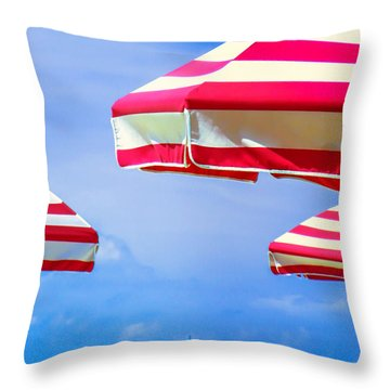 Peppermint Beach Throw Pillow