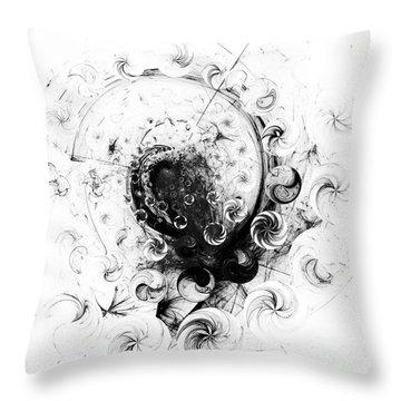 Throw Pillow featuring the digital art Peppermint Dream 1 by Arlene Sundby