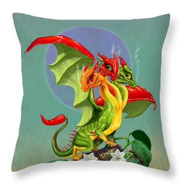 Peppers Dragon Throw Pillow