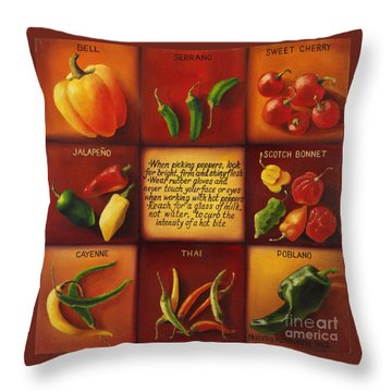 Pepper Facts  Throw Pillow