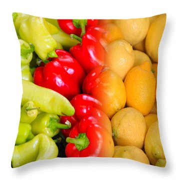 Peppers To Pucker Throw Pillow