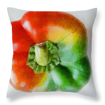 Peppery Allsorts  Throw Pillow by Steve Taylor