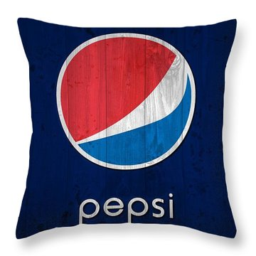Pepsi Barn Sign Throw Pillow by Dan Sproul