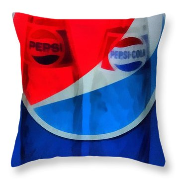 Pepsi Cola Throw Pillow by Dan Sproul