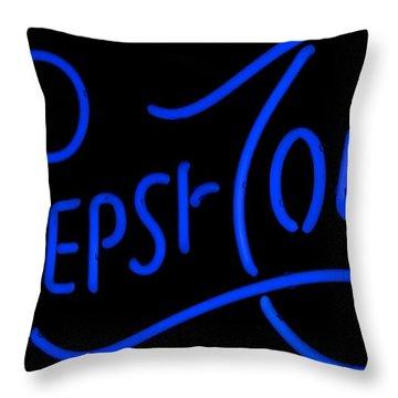 Pepsi Cola Neon Throw Pillow