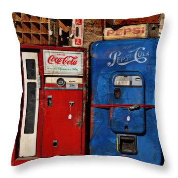 Pepsi Throw Pillow by Mary Machare