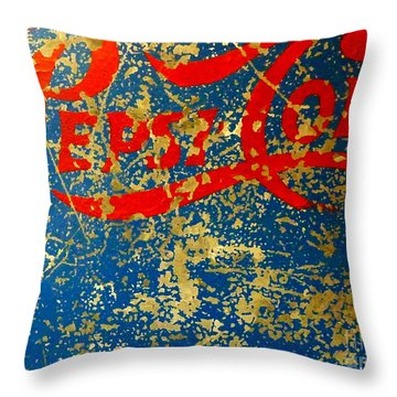 Pepsi Throw Pillow by Newel Hunter