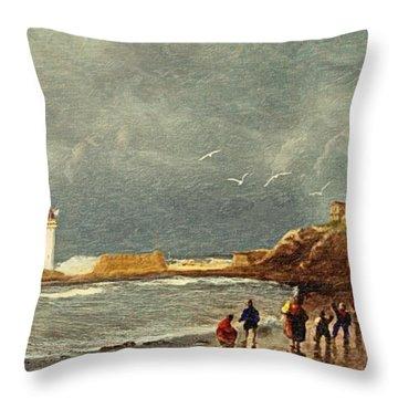 Perch Rock - New Brighton 1829 Throw Pillow
