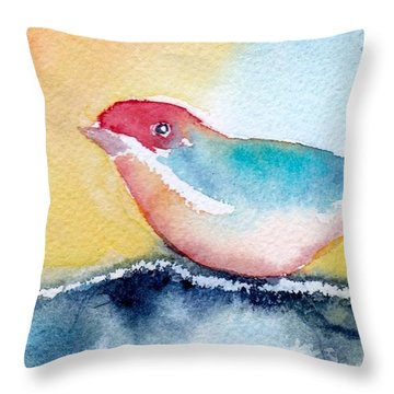 Throw Pillow featuring the painting Perching by Anne Duke