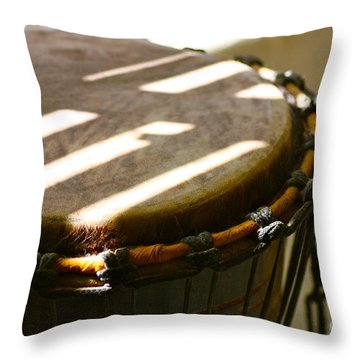 Percussion Light Throw Pillow by Cathy Dee Janes