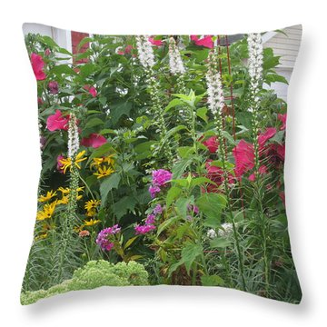 Throw Pillow featuring the photograph Perennial Garden 1 by Margaret Newcomb