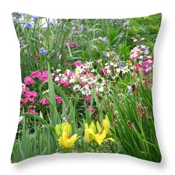 Throw Pillow featuring the photograph Perennial Garden 2 by Margaret Newcomb