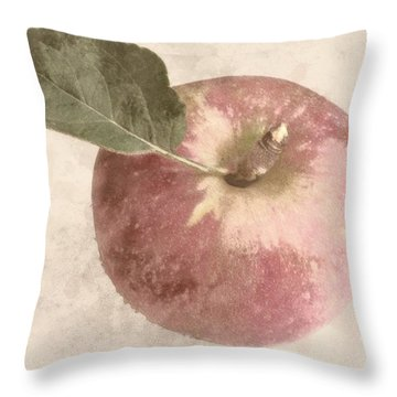 Throw Pillow featuring the photograph Perfect Apple by Photographic Arts And Design Studio