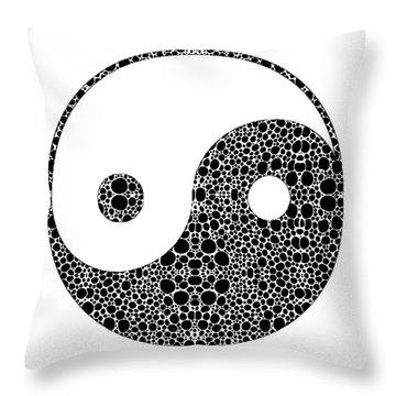 Perfect Balance 1 - Yin And Yang Stone Rock'd Art By Sharon Cummings Throw Pillow by Sharon Cummings