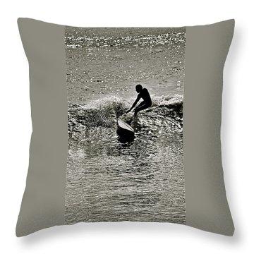Perfect Balance Throw Pillow by Jocelyn Kahawai