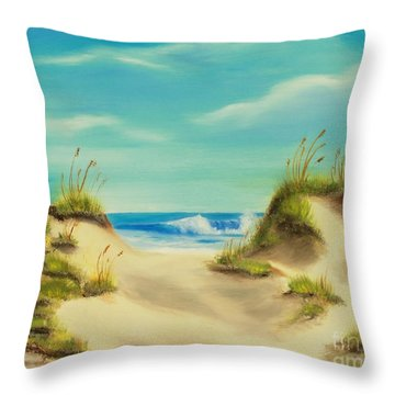 Perfect Beach Day Throw Pillow
