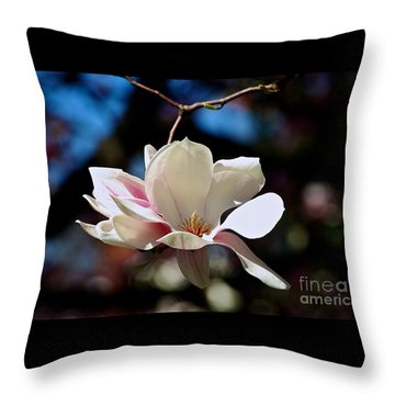 Perfect Bloom Magnolia Throw Pillow