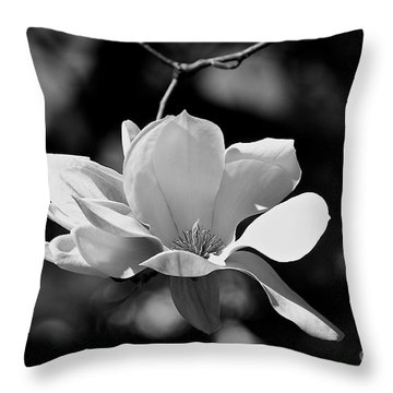 Perfect Bloom Magnolia In White Throw Pillow