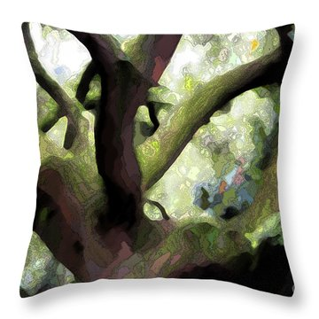 Perfect Climbing Tree  Throw Pillow by Carol Groenen