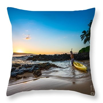 Maui Sunset Throw Pillows
