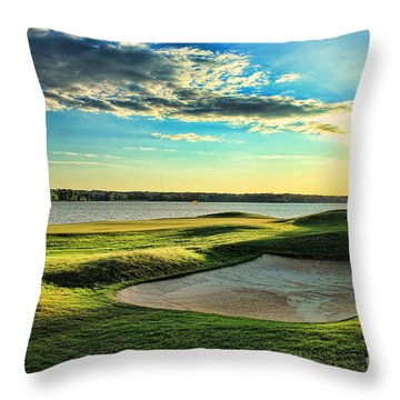 Perfect Golf Sunset Throw Pillow