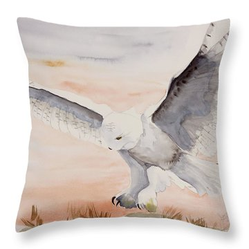 Perfect Landing Throw Pillow by Joette Snyder