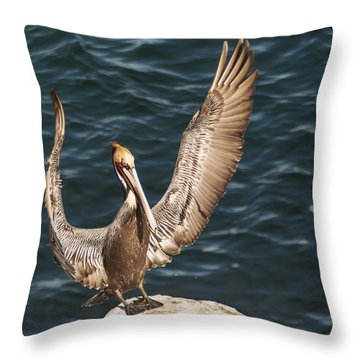 Perfect Landing Throw Pillow by Lee Kirchhevel