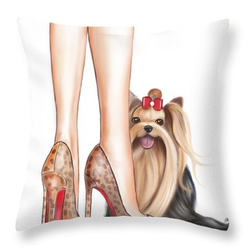 Perfect Match Throw Pillow by Catia Cho