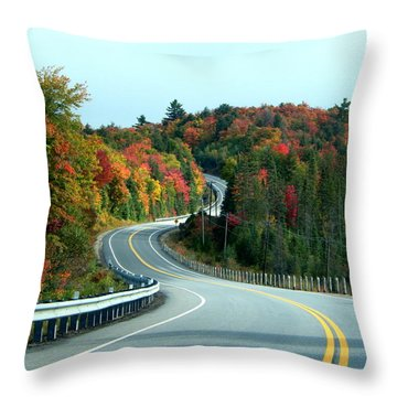 Perfect Ride Throw Pillow by Betty-Anne McDonald