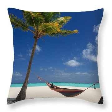 Throw Pillow featuring the photograph Perfect Tropical Beach by Karen Lee Ensley
