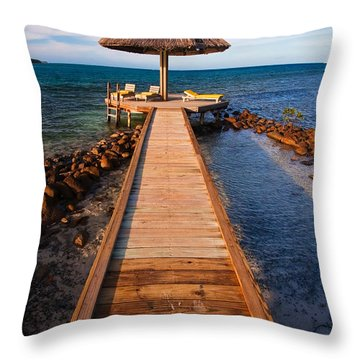 Perfect Vacation Throw Pillow by Adam Romanowicz